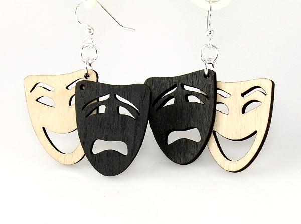 Comedy/Tragedy Earrings -0