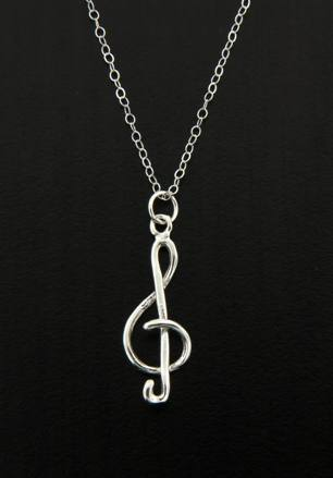 Clef Music Note Necklace-0