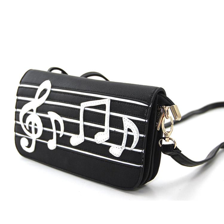 Music Notes Wristlet Shoulder Bag -103288