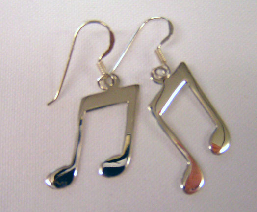 Large Music Note Earrings-7517