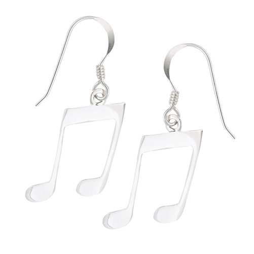 Large Music Note Earrings-0