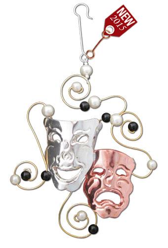 Comedy Tragedy Ornament-0