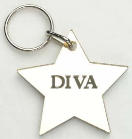 Diva ~ Star Keychain-0