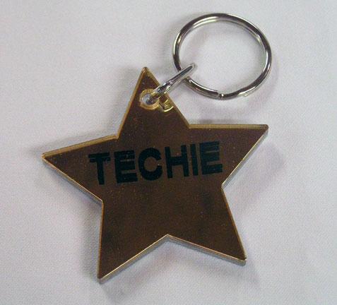 Techie ~ Star Keychain-0