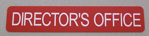 Director's Office Sign-0