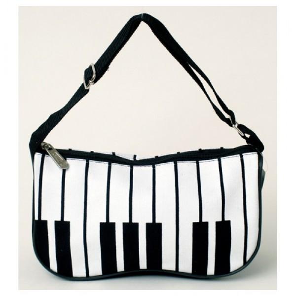 Black and White Piano Keys Purse/Bag-0