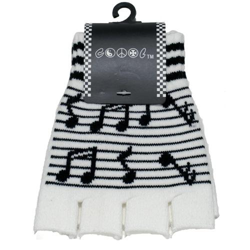 Black/White Music Sheet Gloves-0