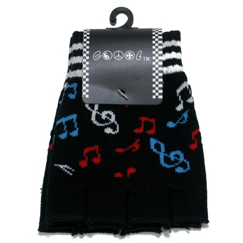 Color Music Note Gloves-0