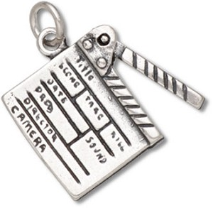 Clapper Board Charm (Moveable)-0