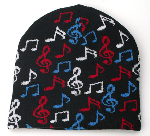 Color Music Note Beanie-0