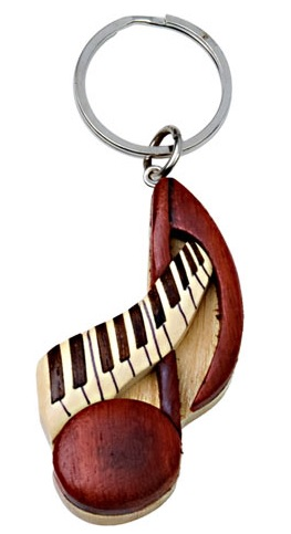 Wood Keychain Note & Keyboard -0