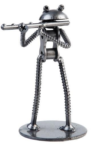 Metal Frog Flutist -0