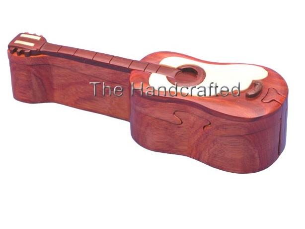 Wood Puzzle Box-Guitar -0