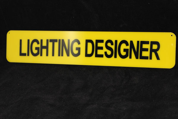 Lighting Designer Plastic Sign-0