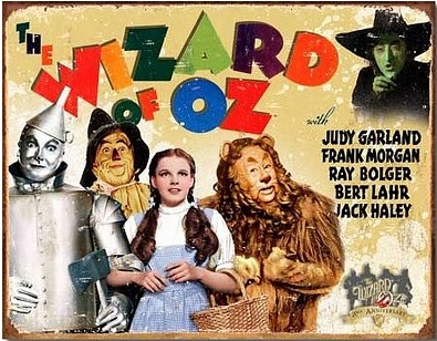 Wiz of Oz 70th Anniversary Metal Sign-0