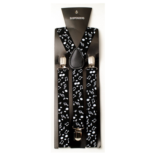 Black/White Music Note Suspenders-0