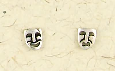 Comedy/Tragedy Post Earrings-0