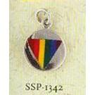 Rainbow Sobriety Symbol Pendant-0