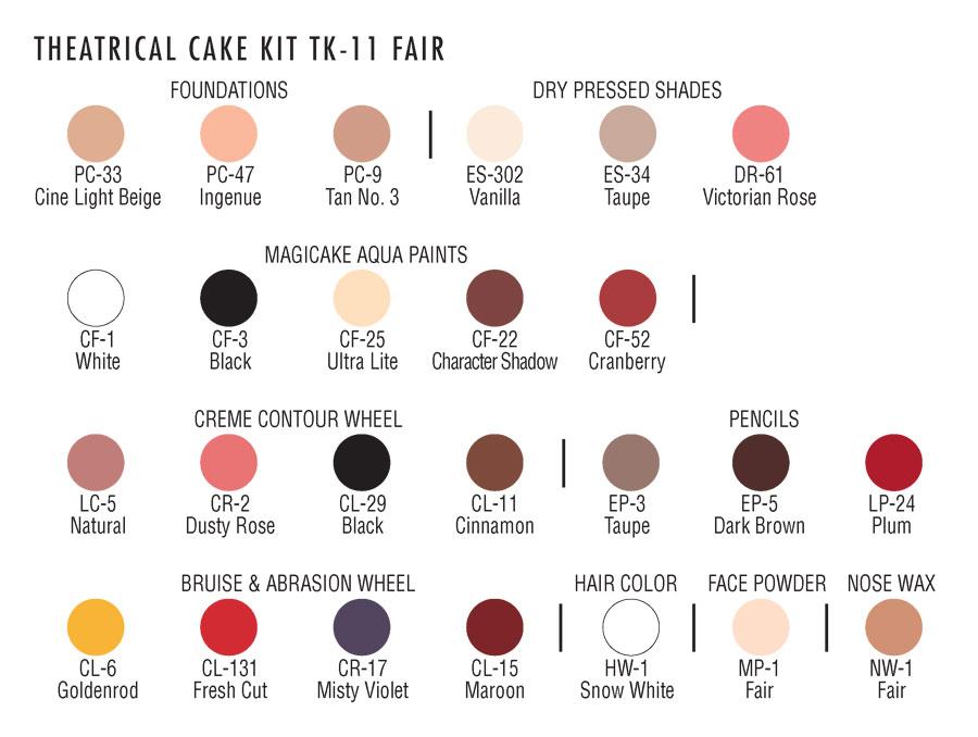 Ben Nye Professional Cake Makeup Kit-103261