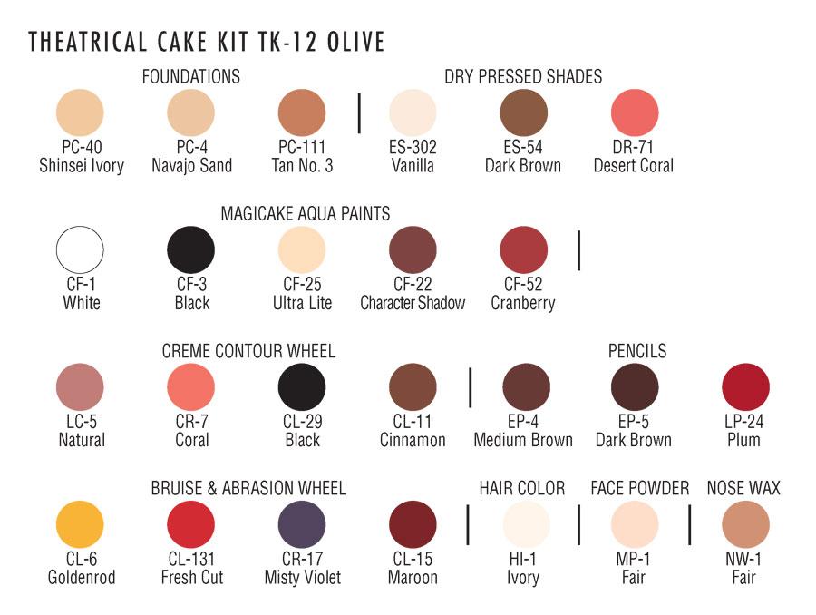 Ben Nye Professional Cake Makeup Kit-103263