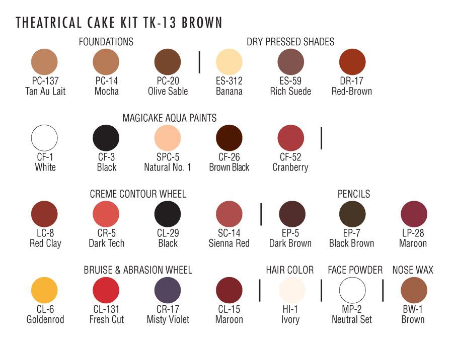 Ben Nye Professional Cake Makeup Kit-103264