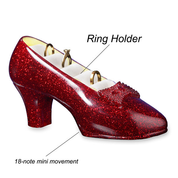 Ruby Slippers Musical Jewelry Holder-103321