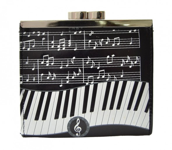 Piano Symphony Black Change Purse-0