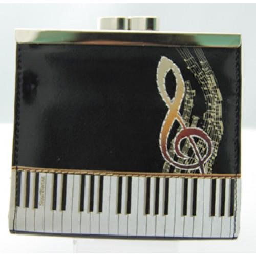 Keyboard Melody Black Change Purse-0