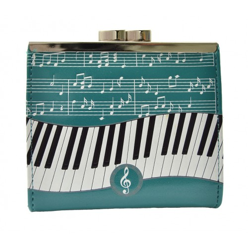 Piano Symphony Teal Change Purse-0