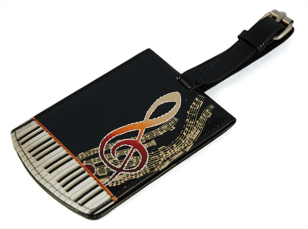 Keyboard Melody Black Luggage Tag-0