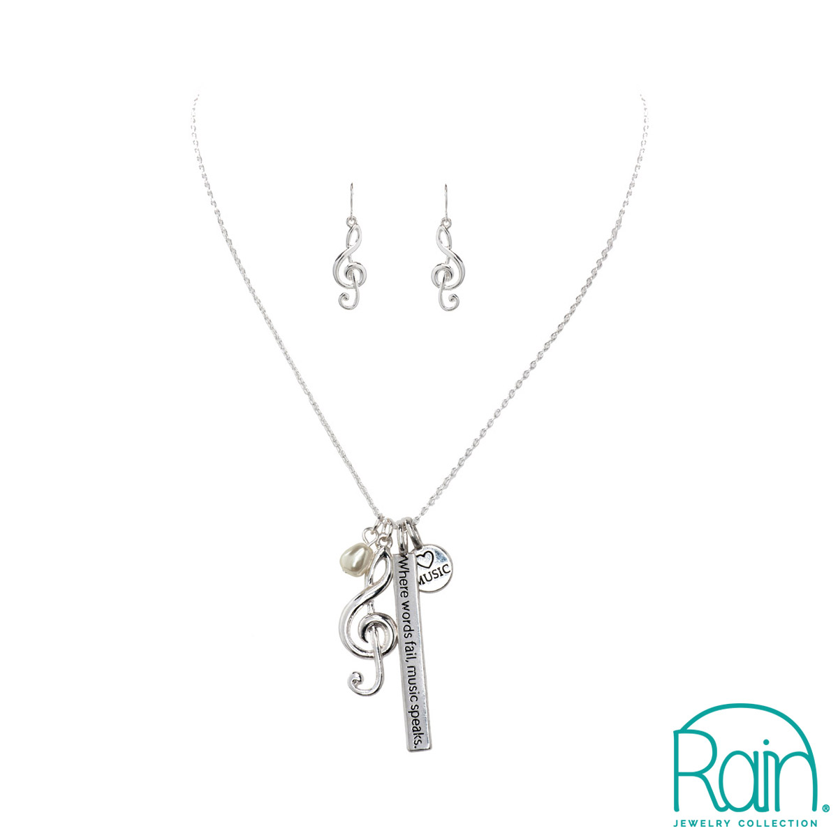 Inspirational Music Charm Necklace -0