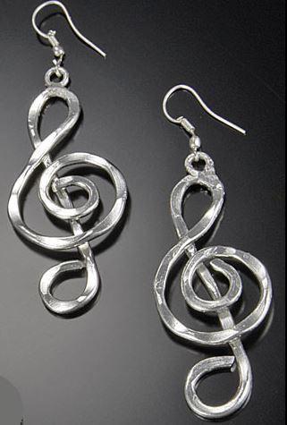 Treble Clef Earrings-0
