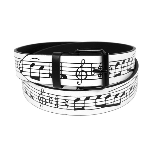 Men's Music Note Buckle Belt-0