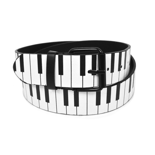 Men's Piano Keys Buckle Belt-0
