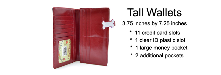 Keyboard Melody Red Tall Wallet -103165