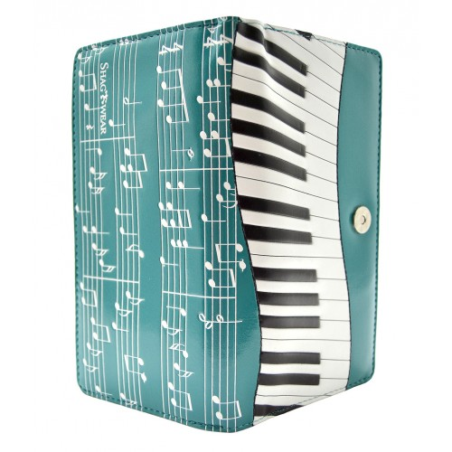 Piano Symphony Teal Tall Wallet-0