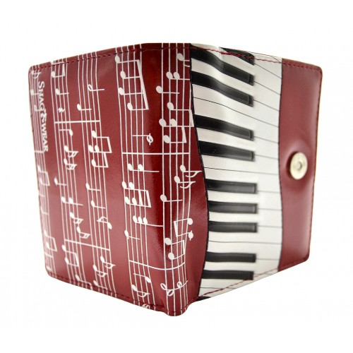 Piano Symphony Red Short Wallet-0
