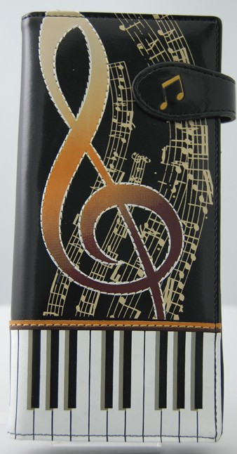 Keyboard Melody Black Tall Wallet -0