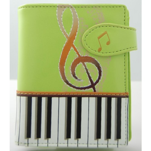 Keyboard Melody Lime Short Wallet -0