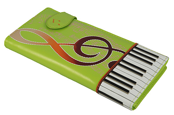 Keyboard Melody Lime Tall Wallet -0